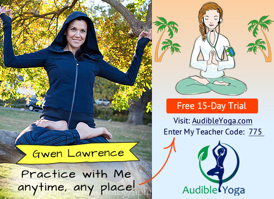 Audible Yoga Classes with Gwen Lawrence